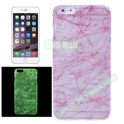 Fluorescent Silk Texture Hard PC Case for iPhone 6 4.7 inch (Rose)