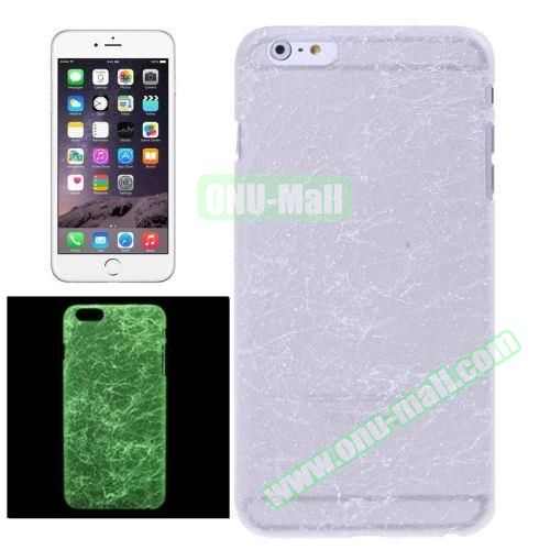 Fluorescent Silk Texture Hard PC Case for iPhone 6 Plus (White)