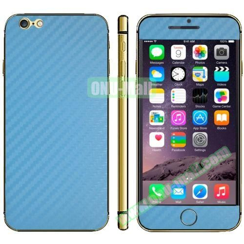 Carbon Fiber Texture Mobile Phone Decal Stickers for iPhone 6 Plus (Baby Blue)