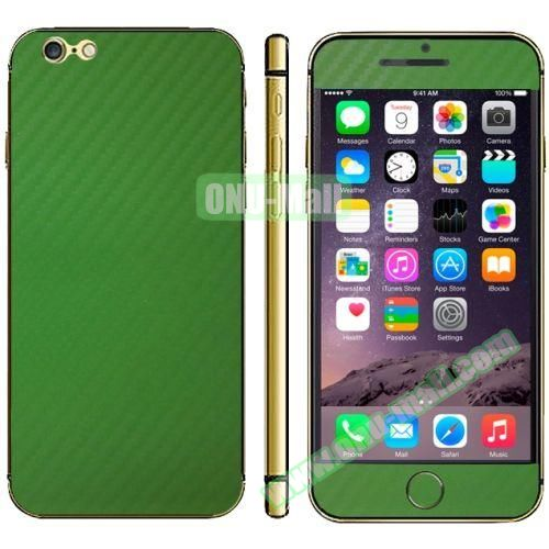 Carbon Fiber Texture Mobile Phone Decal Stickers for iPhone 6 Plus (Green)