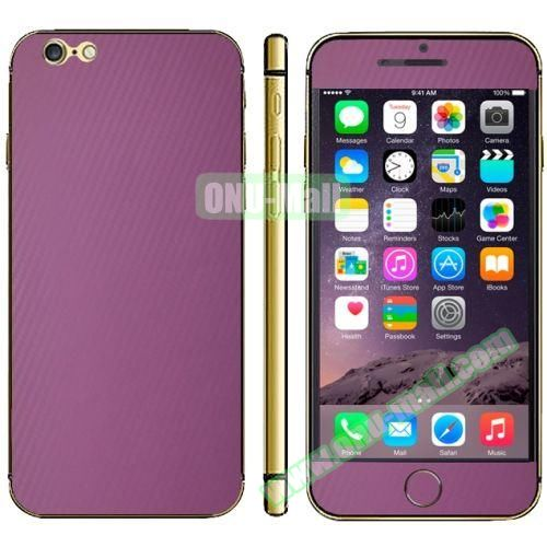 Carbon Fiber Texture Mobile Phone Decal Stickers for iPhone 6 Plus (Purple)