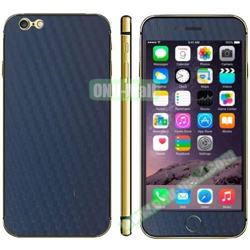 Carbon Fiber Texture Mobile Phone Decal Stickers for iPhone 6 Plus (Dark Blue)