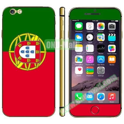 Flag Pattern Mobile Phone Decal Stickers for iPhone 6 (Portuguese Flag)