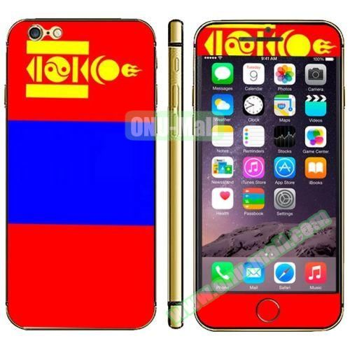 Flag Pattern Mobile Phone Decal Stickers for iPhone 6 (Mongolian Flag)
