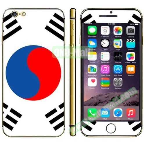 Flag Pattern Mobile Phone Decal Stickers for iPhone 6 (Korean Flag)