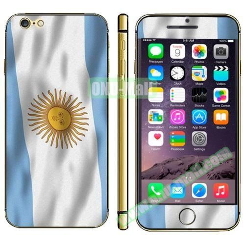 Flag Pattern Mobile Phone Decal Stickers for iPhone 6 (Argentine Flag)