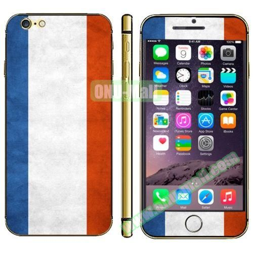 Flag Pattern Mobile Phone Decal Stickers for iPhone 6 (French Flag)