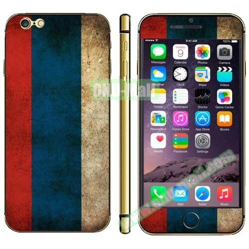 Flag Pattern Mobile Phone Decal Stickers for iPhone 6 (Russian Flag)