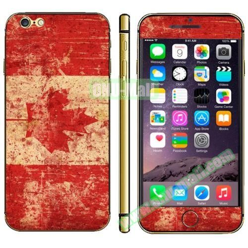 Flag Pattern Mobile Phone Decal Stickers for iPhone 6 (Canadian Flag)