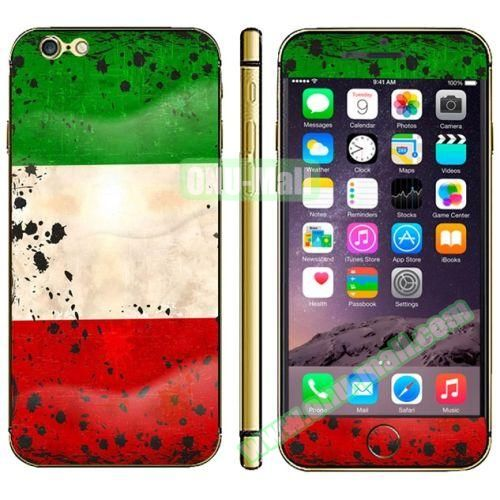 Flag Pattern Mobile Phone Decal Stickers for iPhone 6 (Kuwait Flag)