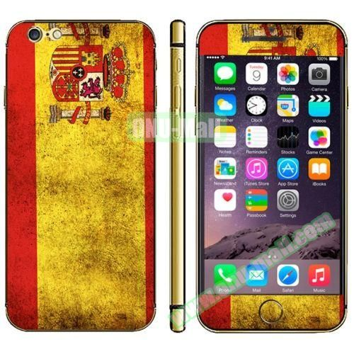 Flag Pattern Mobile Phone Decal Stickers for iPhone 6 (Spainish Flag)