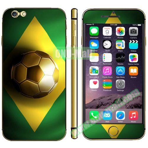 Flag Pattern Mobile Phone Decal Stickers for iPhone 6 (Brazil Flag)