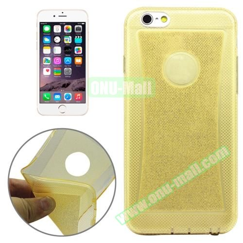 Shiny Powder TPU Case for iPhone 6 4.7 (Yellow)