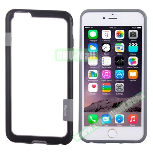 Two-tone Plastic Bumper Frame Case for iPhone 6 Plus (Black)