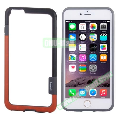 Two-tone Plastic Bumper Frame Case for iPhone 6 Plus (Black+Red)