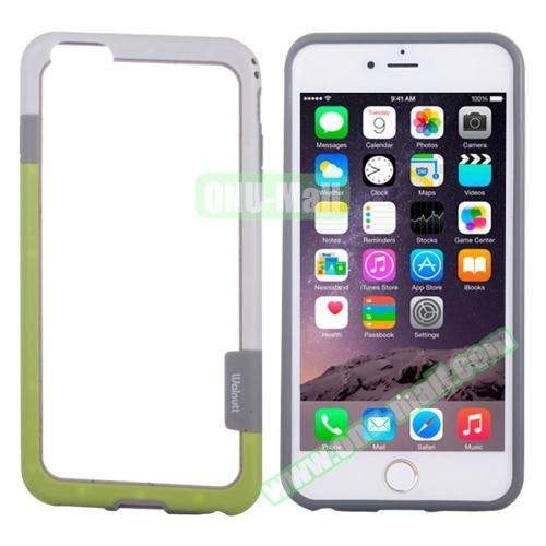 Two-tone Plastic Bumper Frame Case for iPhone 6 Plus (White+Green)