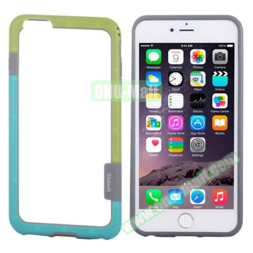 Two-tone Plastic Bumper Frame Case for iPhone 6 Plus (Yellow+Green)