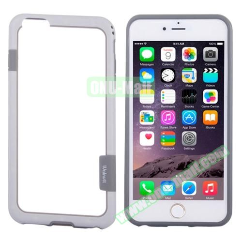Two-tone Plastic Bumper Frame Case for iPhone 6 Plus (White)