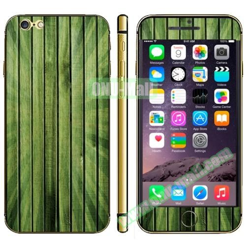 Wood Design Full Decoration Decal Stickers for iPhone 6 Plus (Green Bamboo)