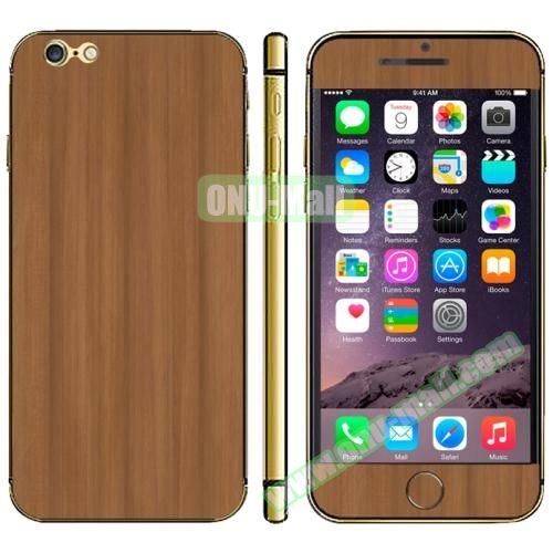 Wood Design Full Decoration Decal Stickers for iPhone 6 Plus (Wood)