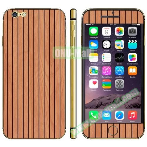 Wood Design Full Decoration Decal Stickers for iPhone 6 Plus (Brown Wood)