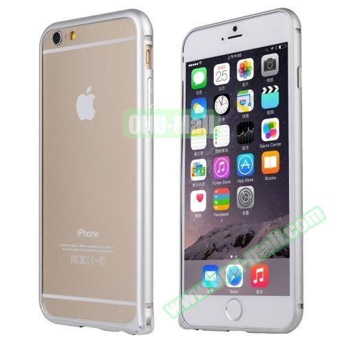 Baseus Beauty Arc Edge Frame Aluminum Metal Bumper Case For iPhone 6 (White)