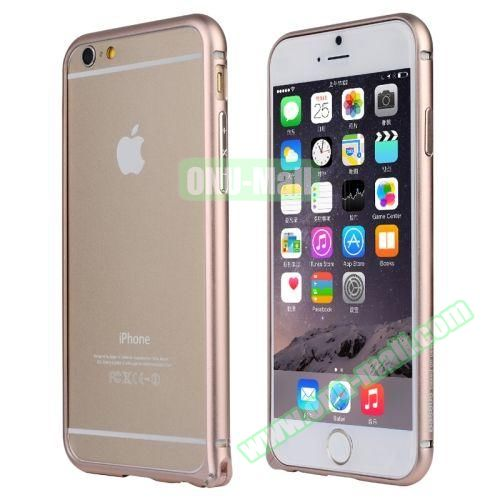 Baseus Beauty Arc Edge Frame Aluminum Metal Bumper Case For iPhone 6 Plus 5.5 inch (Gold)