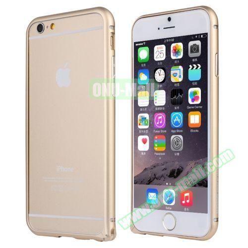 Baseus Beauty Arc Edge Frame Aluminum Metal Bumper Case For iPhone 6 (Champagne)
