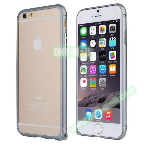 Baseus Beauty Arc Edge Frame Aluminum Metal Bumper Case For iPhone 6 (Gray)
