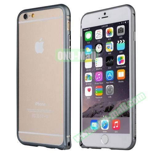 Baseus Beauty Arc Edge Frame Aluminum Metal Bumper Case For iPhone 6 Plus 5.5 inch (Dark Gray)