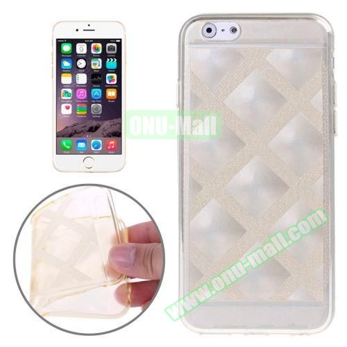 Block Plaid Soft TPU Case Cover for iPhone 6 4.7 Inch (Yellow)
