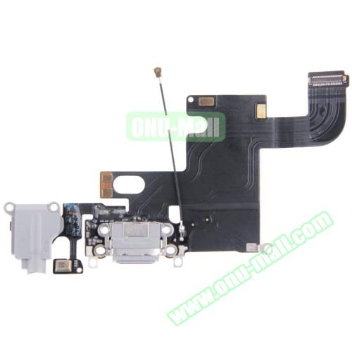 Charging Port Dock Connector Flex Cable Replacement for iPhone 6 (Grey)