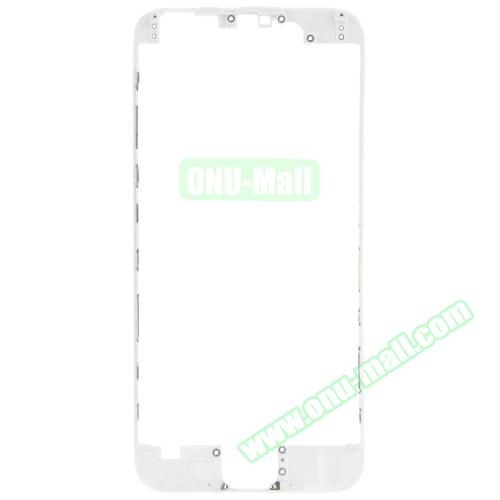 Front LCD Screen Bezel Frame for iPhone 6 (White)