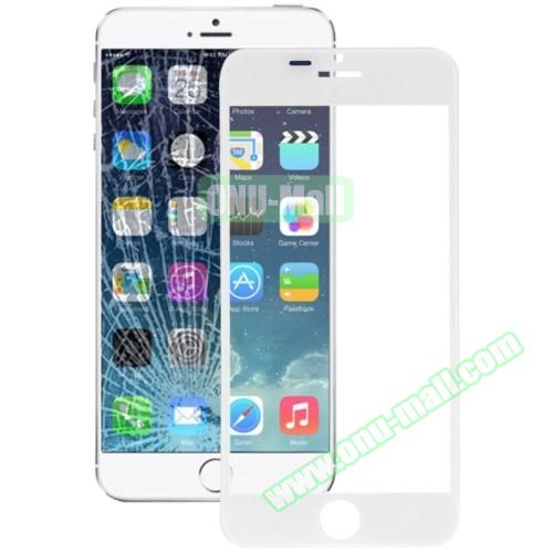 Front Screen Outer Glass Lens for iPhone 6 (White)