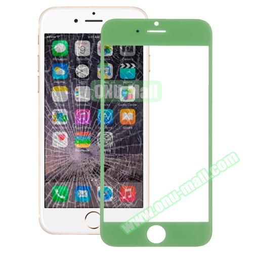 Front Screen Outer Glass Lens for iPhone 6 Plus(Green)