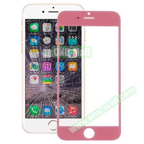 Front Screen Outer Glass Lens for iPhone 6 (Pink)