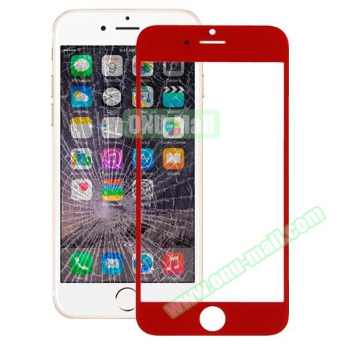 Front Screen Outer Glass Lens for iPhone 6 (Red)