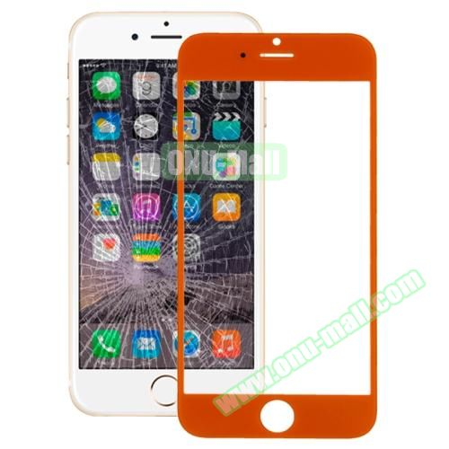 Front Screen Outer Glass Lens for iPhone 6 (Orange)