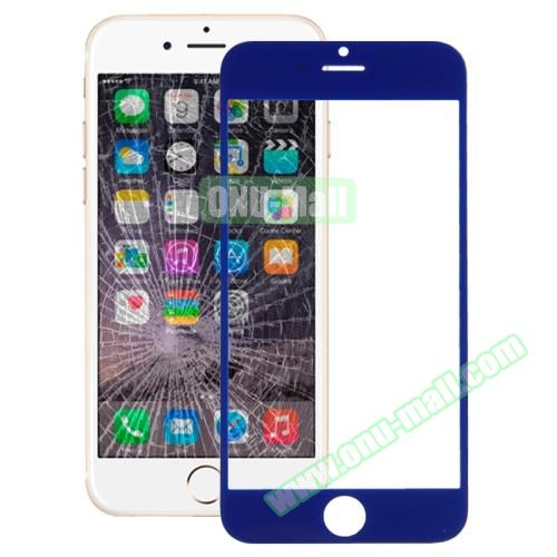 Front Screen Outer Glass Lens for iPhone 6 Plus (Dark Blue)