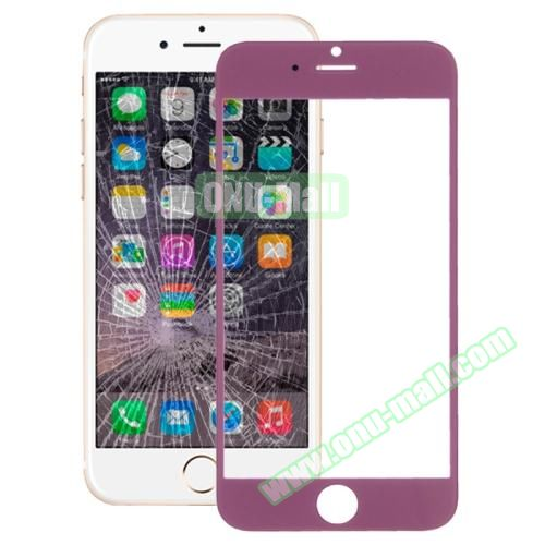 Front Screen Outer Glass Lens for iPhone 6 Plus (Purple)