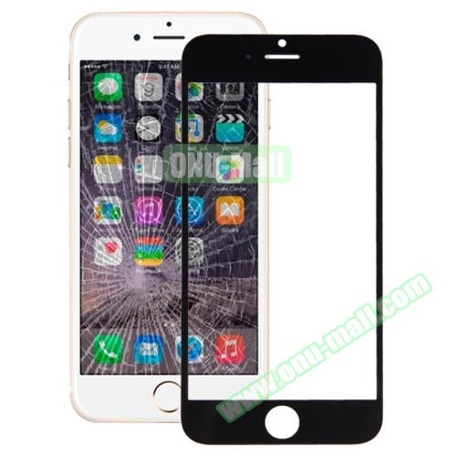 Front Screen Outer Glass Lens for iPhone 6 (Black)