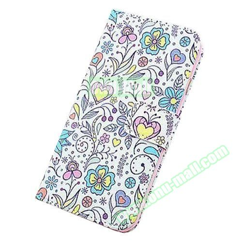 Colorful Design Flip Leather Case for iPhone 6 4.7 inch (Creative Flowers)