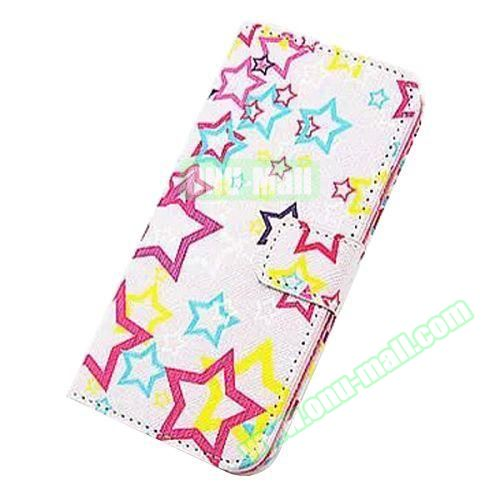 Colorful Design Flip Leather Case for iPhone 6 4.7 inch (Shinning Stars)