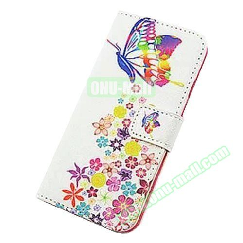 Colorful Design Flip Leather Case for iPhone 6 4.7 inch (Colorful Butterfly)