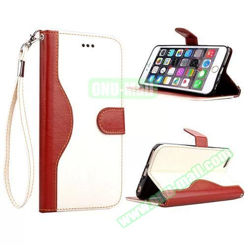 Lace Texture Flip Leather Case for iPhone 6 4.7 inch with Card Slots and Hand Strap (White)