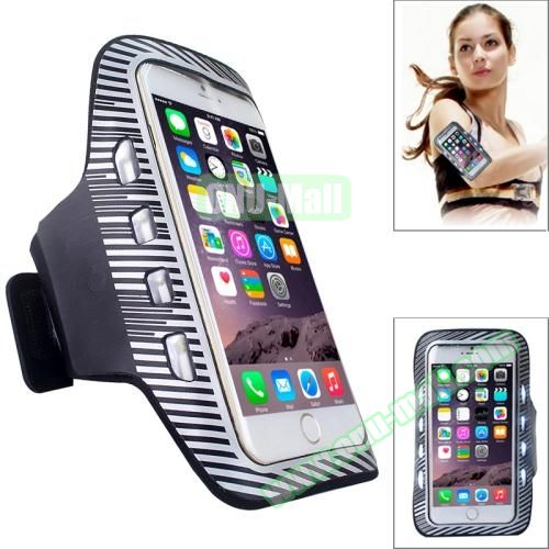 Sporty Armband Case with LED Lighting for iPhone 6 Plus (White)