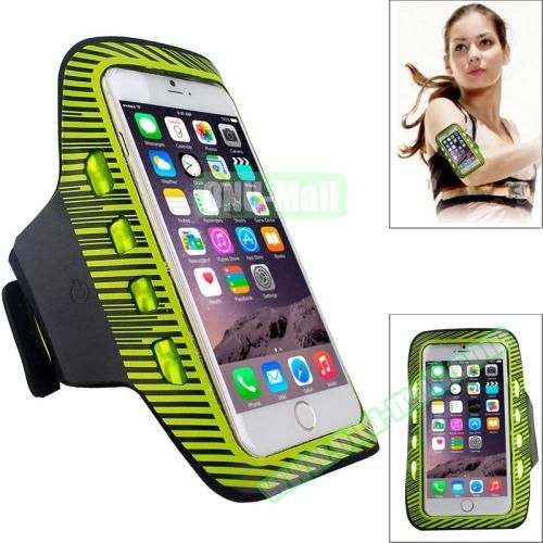 Sporty Armband Case with LED Lighting for iPhone 6 Plus (Yellow)