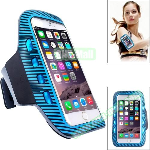 Sporty Armband Case with LED Lighting for iPhone 6 Plus (Blue)