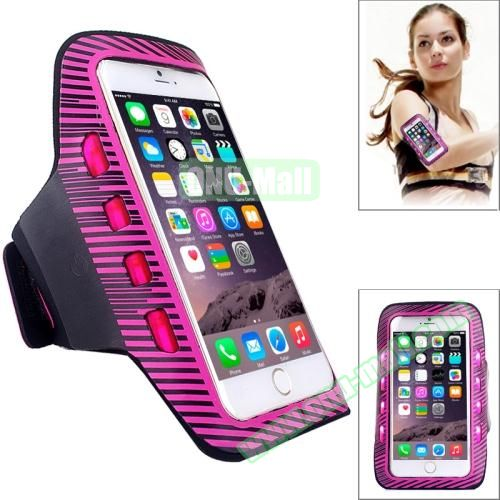 Sporty Armband Case with LED Lighting for iPhone 6 Plus (Rose)