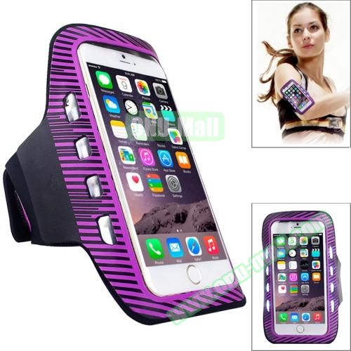 Sporty Armband Case with LED Lighting for iPhone 6 Plus (Purple)